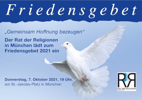 Friedensgebet Postkarte 2021