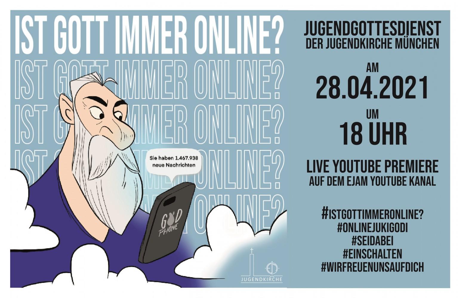 Onlinegottesdienst der Jugendkirche